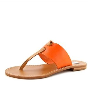 Steve Madden Olivia Orange Thong Sandals